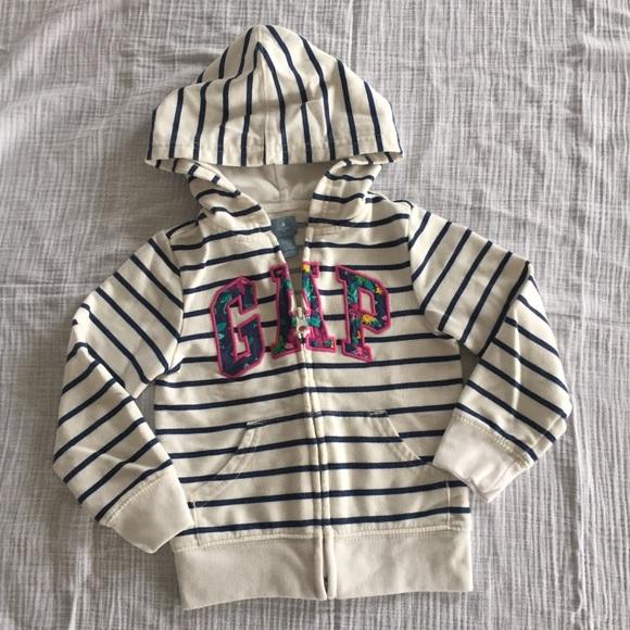 bef1c92a6 GAP Shirts & Tops | Toddler Girl Striped Hoodie | Poshmark